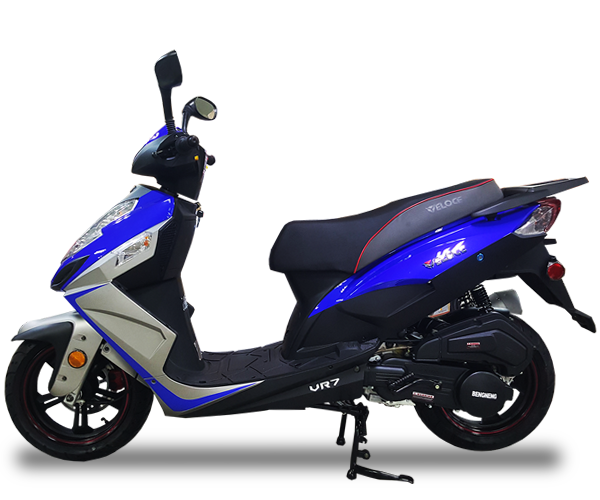 VR7 - · Engine: 150cc· Air-Cooled· LED Front Lights· LED Tail Lights· Lightweight· Colors: Red, White & GreyRequest Parts>Request Service>