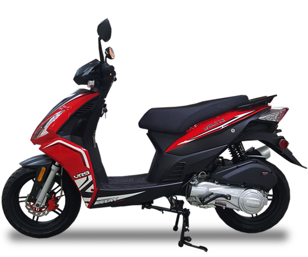 VR9 - · Engine: 150cc· Air-Cooled· LED Front Lights· LED Tail Lights· Lightweight· Colors: Red, White & GreyRequest Parts>Request Service>