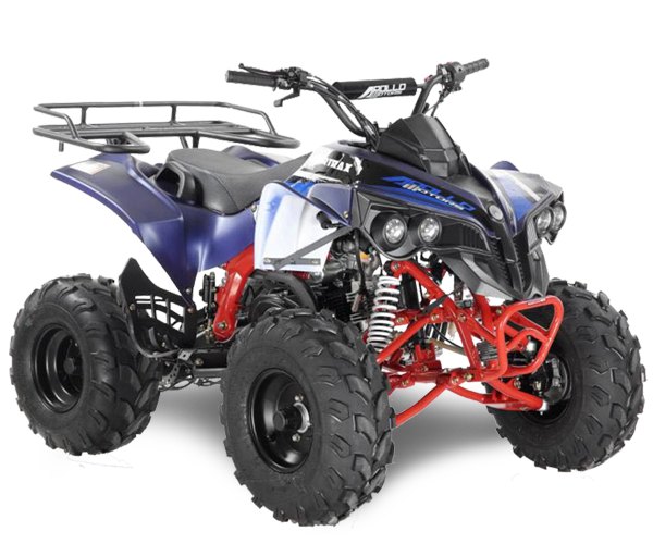 Apollo Sportrax - · Engine: From 110cc to 125cc· Fuel Power: Gasoline· Transmission: Auto or Manual· Starter: Electric· Brakes: Discs / Drum