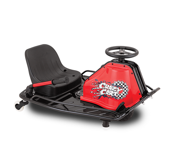 Crazy Cart - Max Speed: 12 MPHBattery Life: 40 MinsMax Weight: 120 LbsAges: 9+