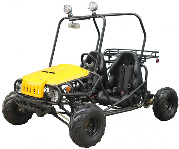 Jeep - · Engine: 110cc· Brakes: Hydraulic Discs· Starter: Electric· Transmission: Semi-Automatic· Cooling: Air Cooled· Various Colors· Limited availability
