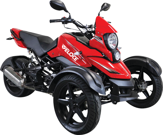 TRIKER - · Engine: 180cc· Air-Cooled· Auto w/ Reverse· LED Tail Lights· Colors: Red, White, Grey,Request Parts>Request Service>