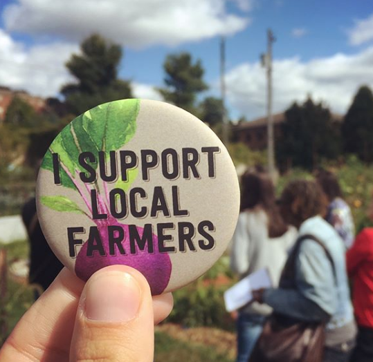 Make or buy signs, buttons, t-shirts, or pins… there are plenty of ways to let our farmers know you support them.