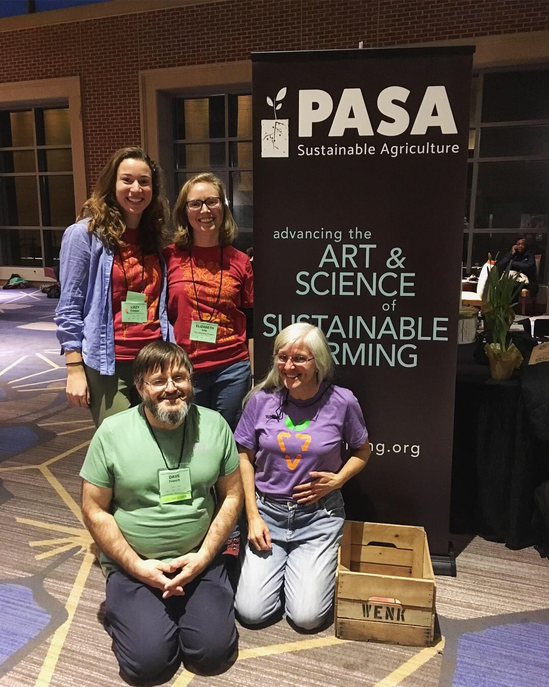 Coordinators Lizzy and Liz with volunteers Dave and Donna.