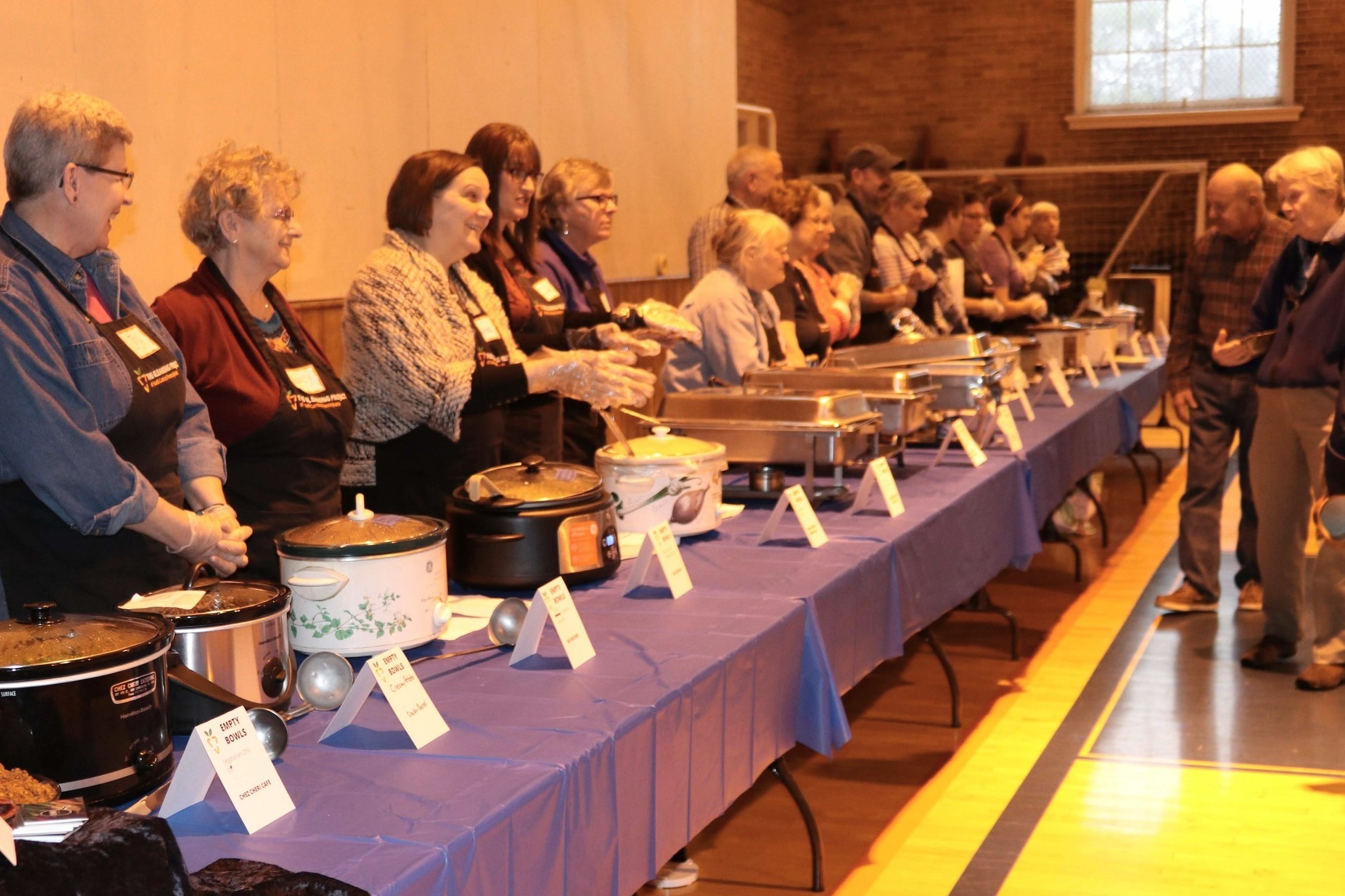 Soup servers ready to begin!