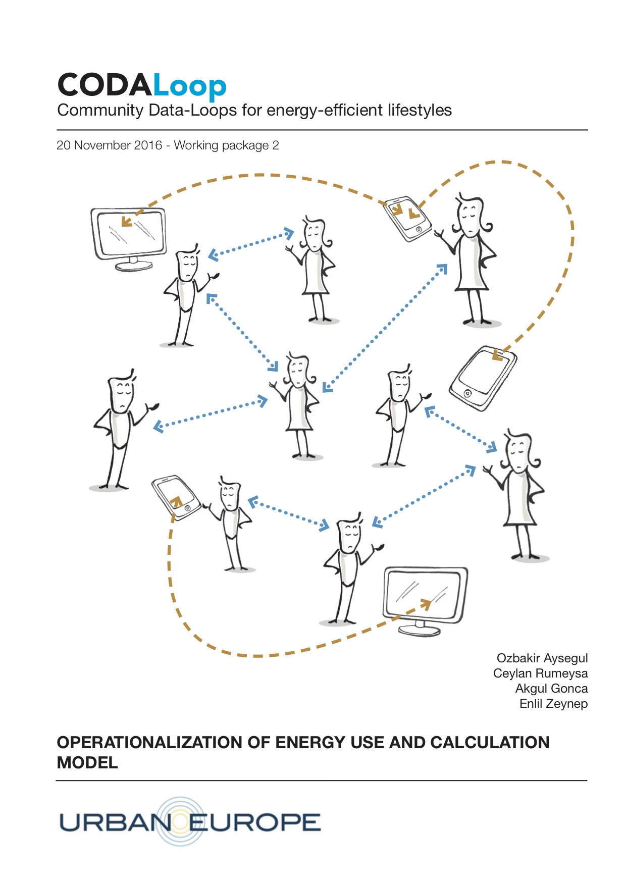 Working package 2 - Individual to Community feedback loops (leader TU Yildiz) The WP builds on the operationalization of energy behavior and learning to experiment with the first level of interaction between individuals within their communities.