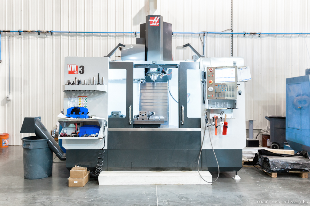 HAAS                     VM3  - A vertical mold making machine. One of Scion's latest additions, used in making precision tooling.