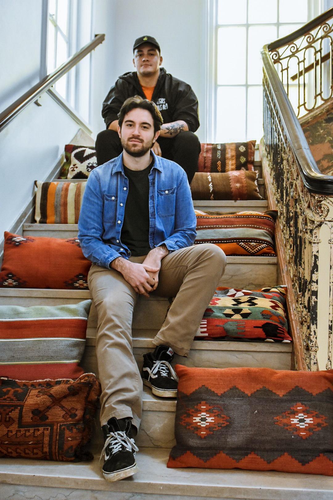 Bassist Ben Rockwood and Fabrizio's Alessandro Di Marzio.