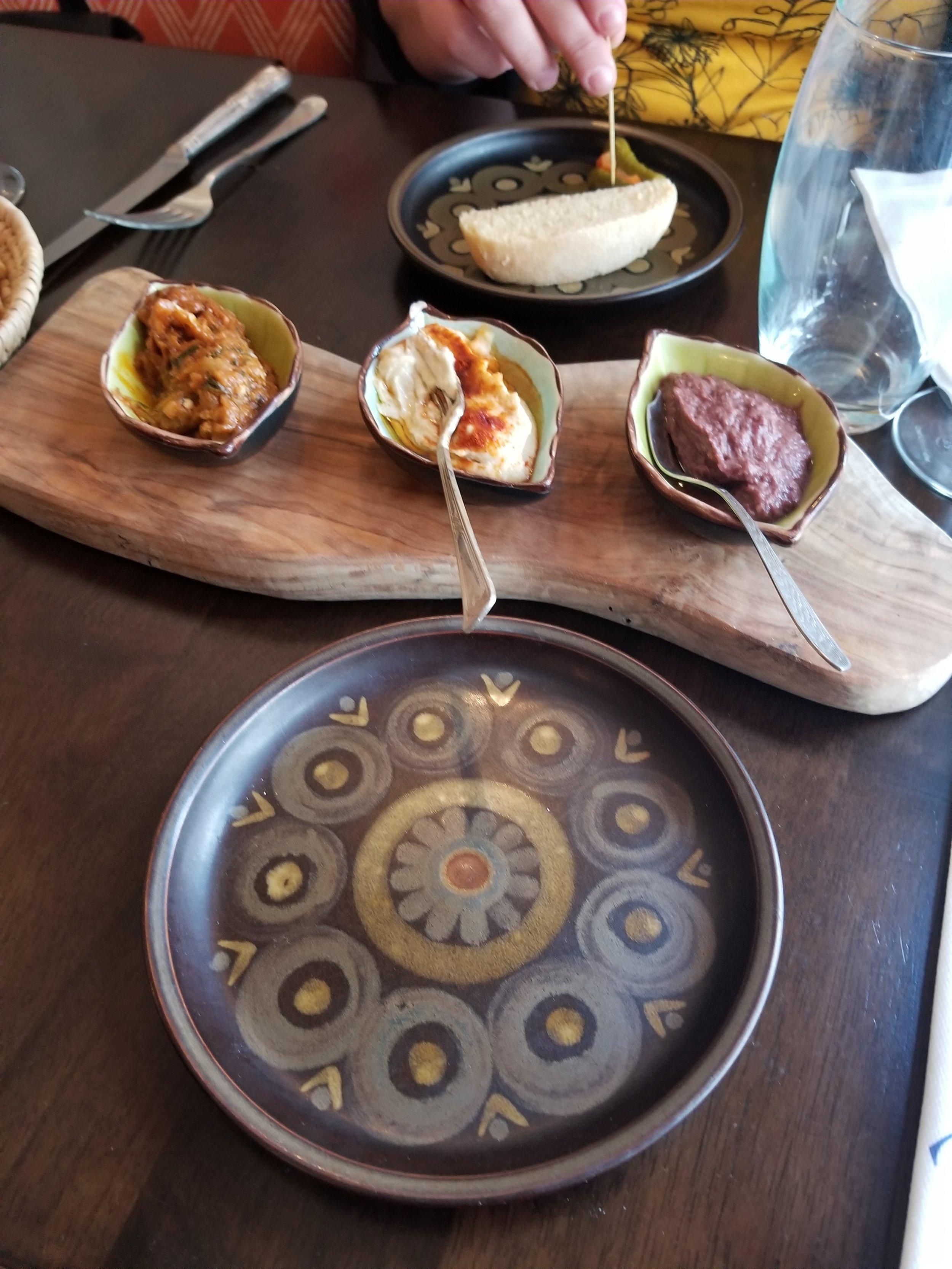 Trio of Dips & Homemade Moroccan Bread
