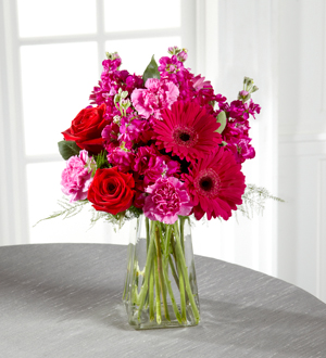 Mixed Flower Arrangement 2 - a lovely mix of fresh cut flowers, including gerbera daisies, carnations, roses etc. arranged in a vase with beautiful greenery. ($115 and up)
