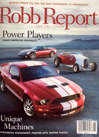 Robb Report Cover, August 2006