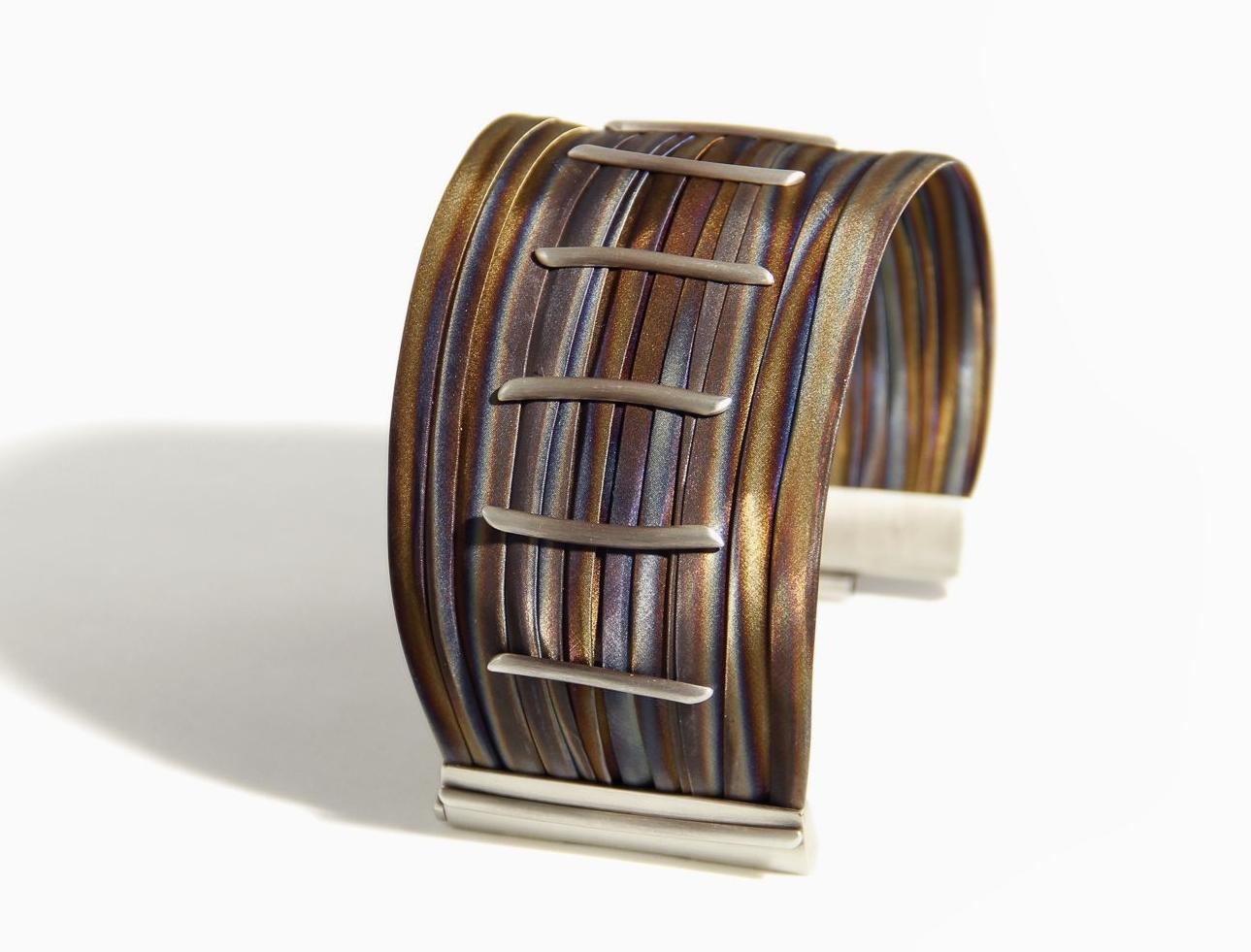 TALIS plicato orange bracelet