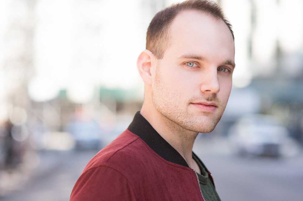 """Actor Headshot in NYC - Billy Arata giving us """"the look""""."""