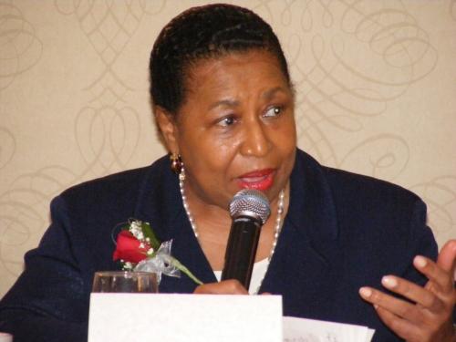 Carol Moseley-Braun speaking at WMW 2015