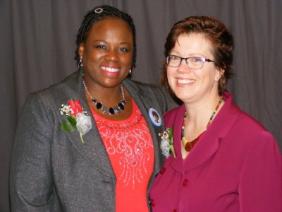 Danielle Chynoweth pictured with State Rep. Carol Ammons at WMW 2015