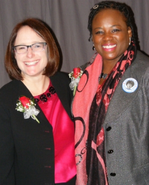 Deb Feinen pictured with Carol Ammons at WMW 2015