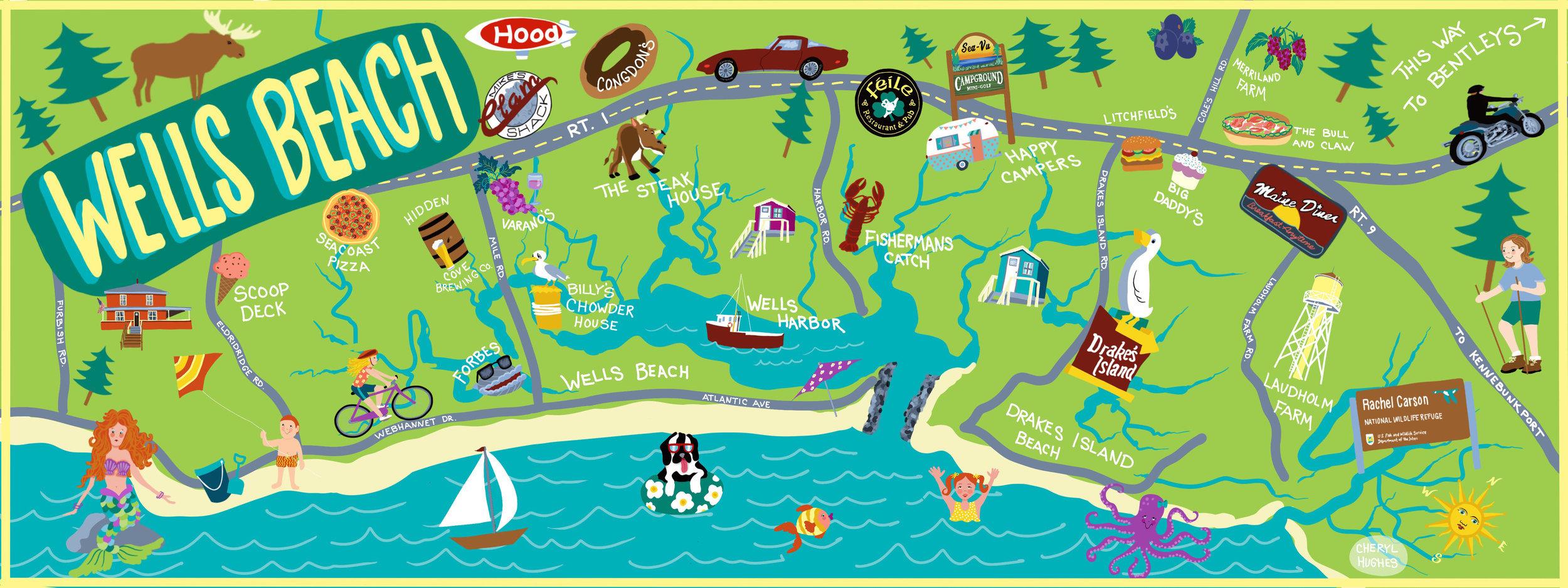 Wells Beach Map