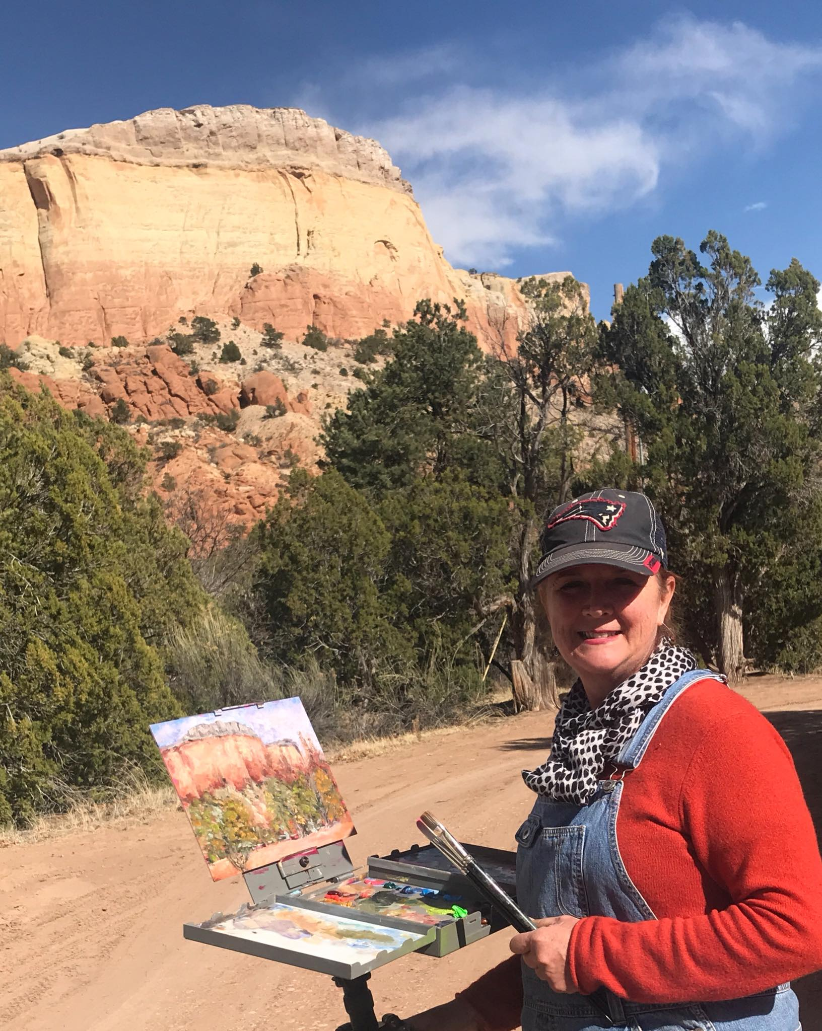 Plein Air painting at Ghost Ranch