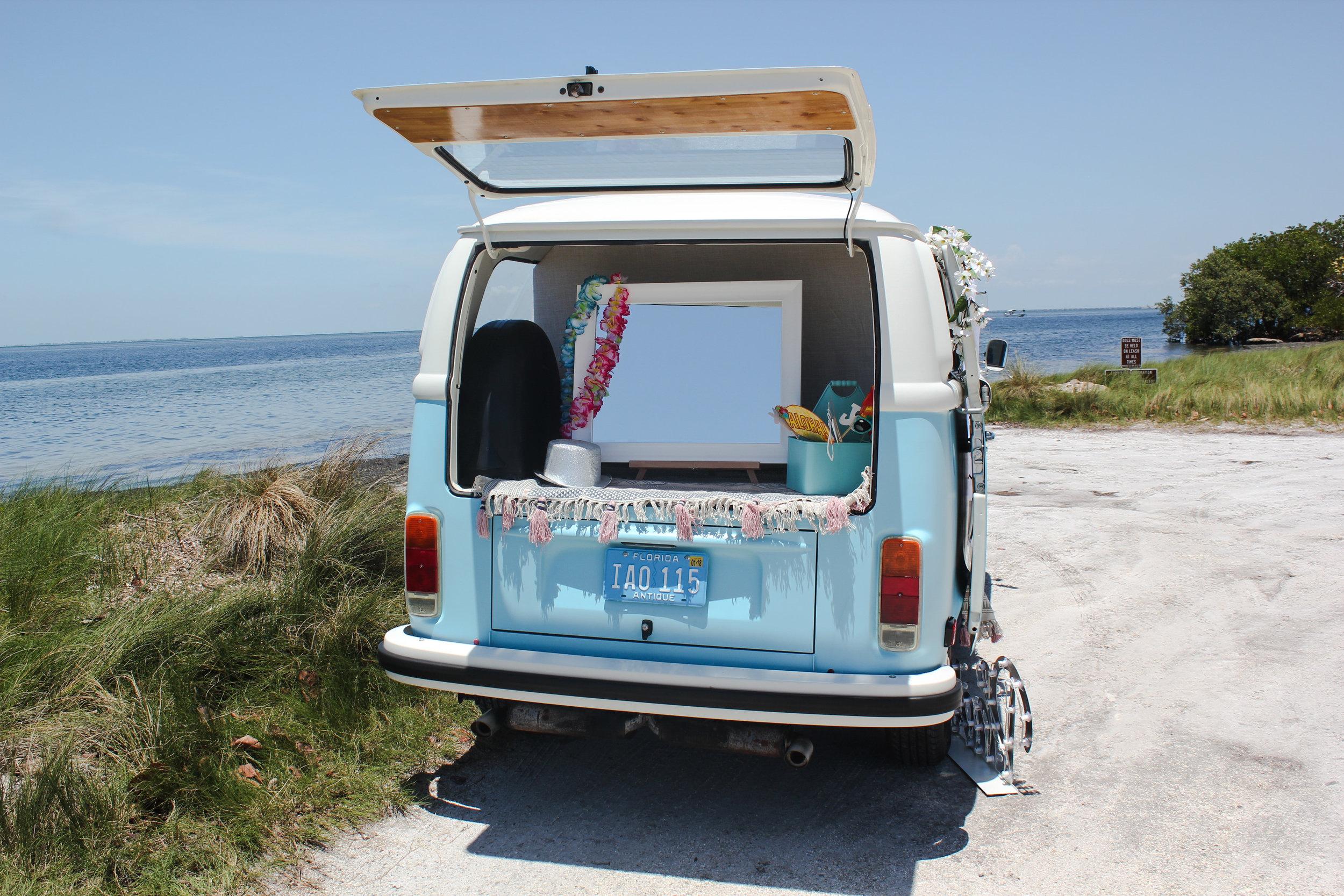VW photo booth Bus on Anna Maria Island.