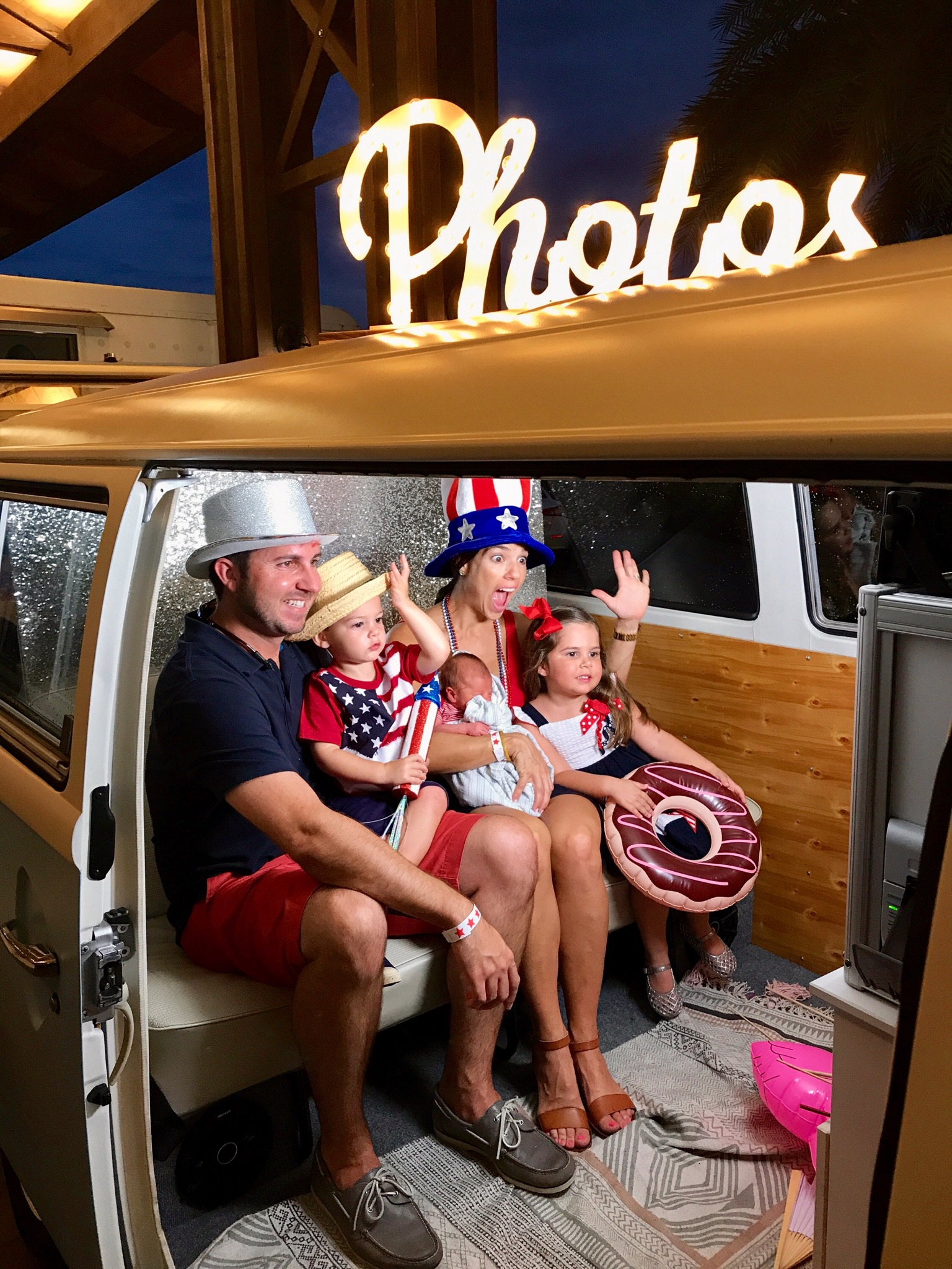 VW Photo Bus in Bradenton for a party.