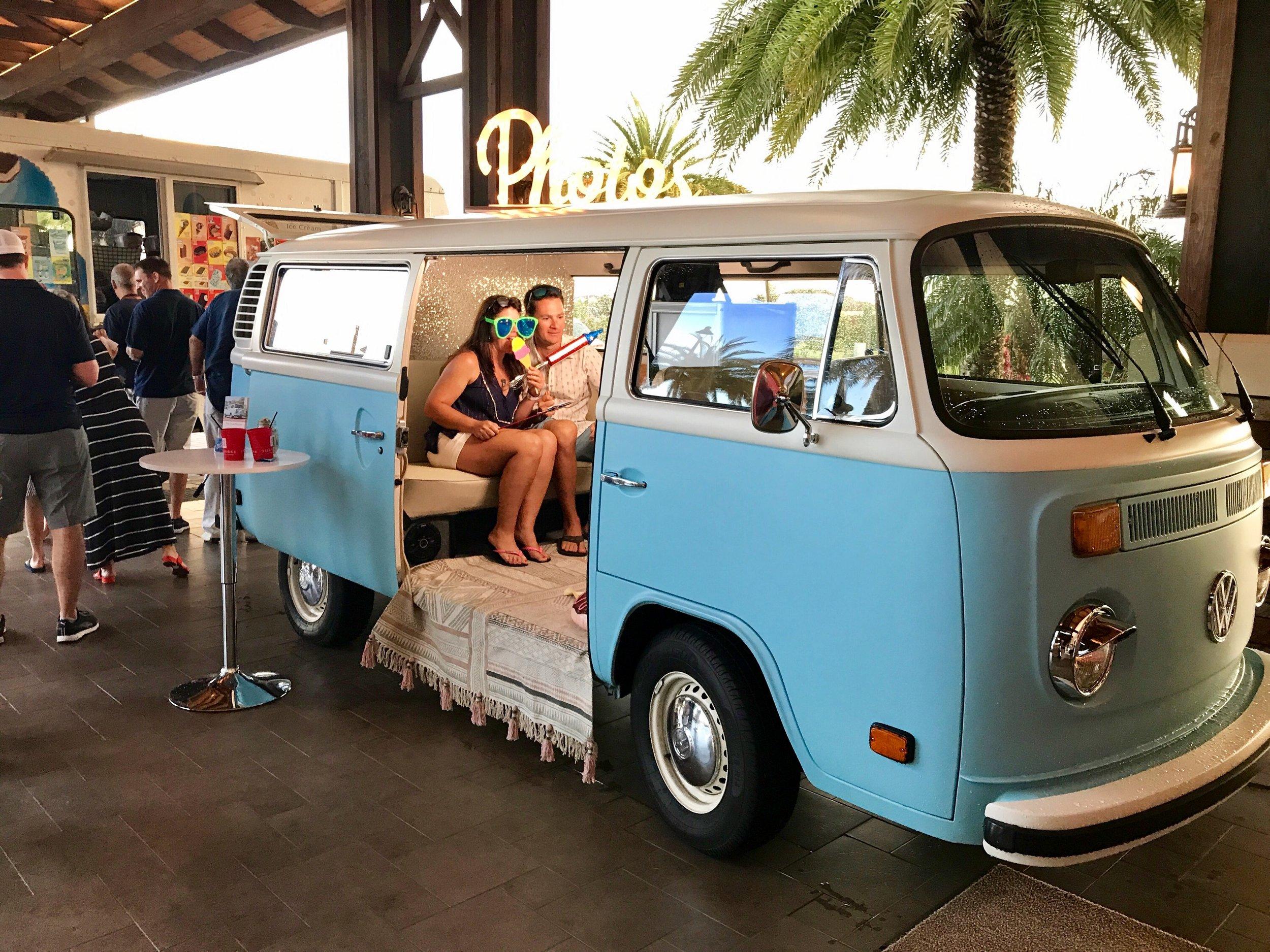 VW Photo Bus in Bradenton FL for a festival.