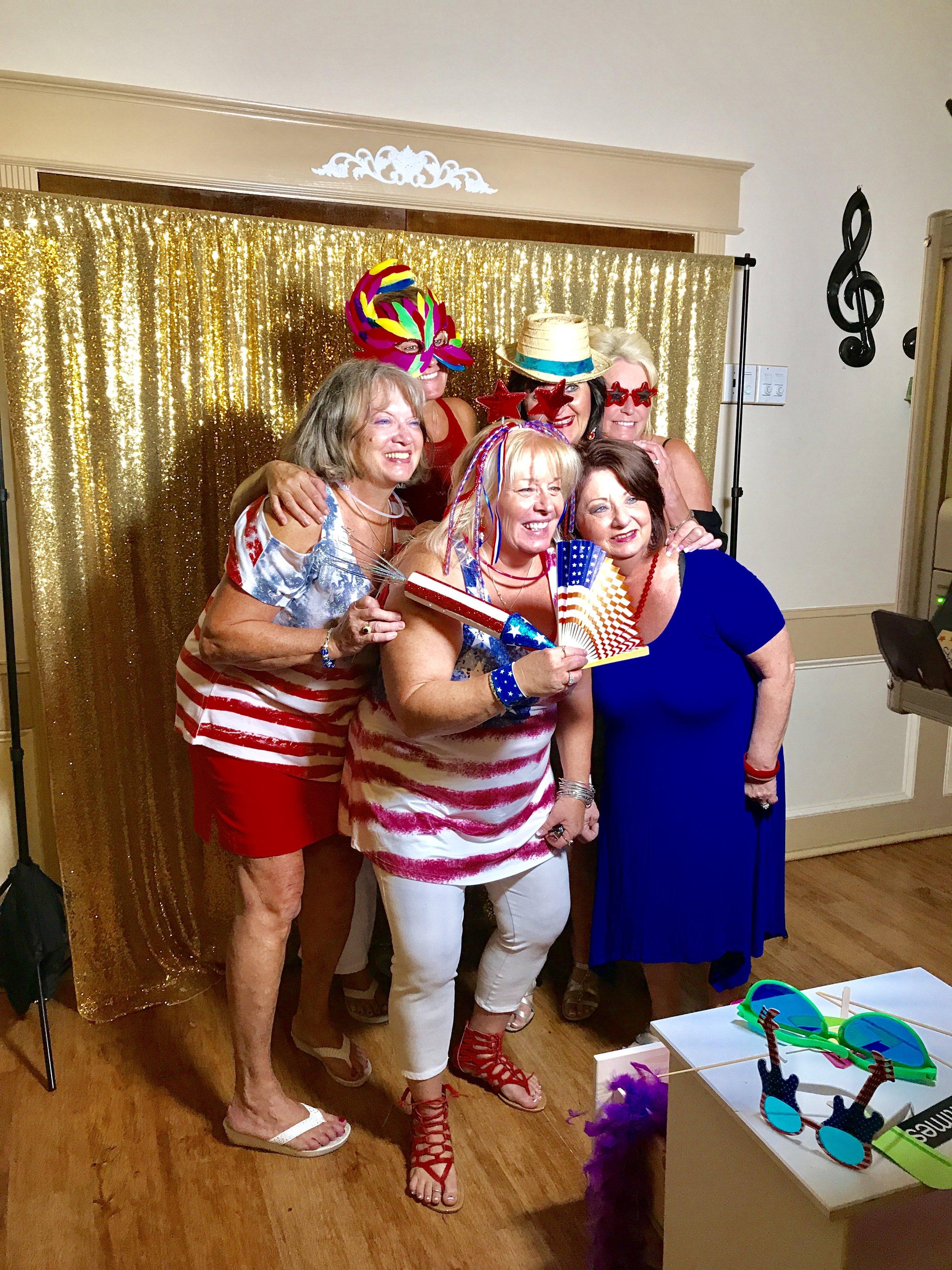 Reunion photo booth in Bradenton FL.