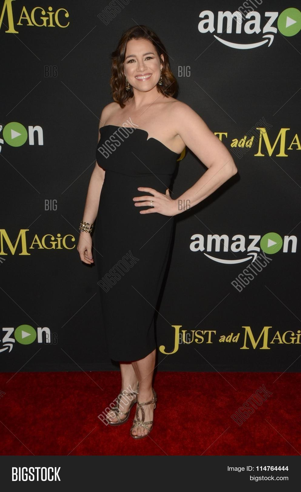 "Catia Ojeda on the red carpet at the ""Just Add Magic"" premiere"