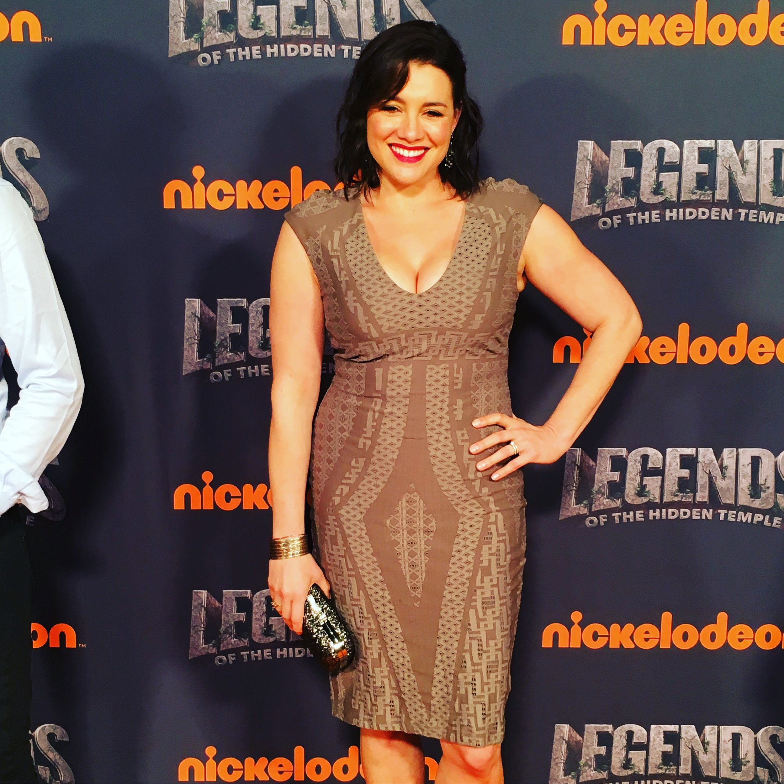 "Catia Ojeda on the red carpet at the premiere of ""Legends of the Hidden Temple."""