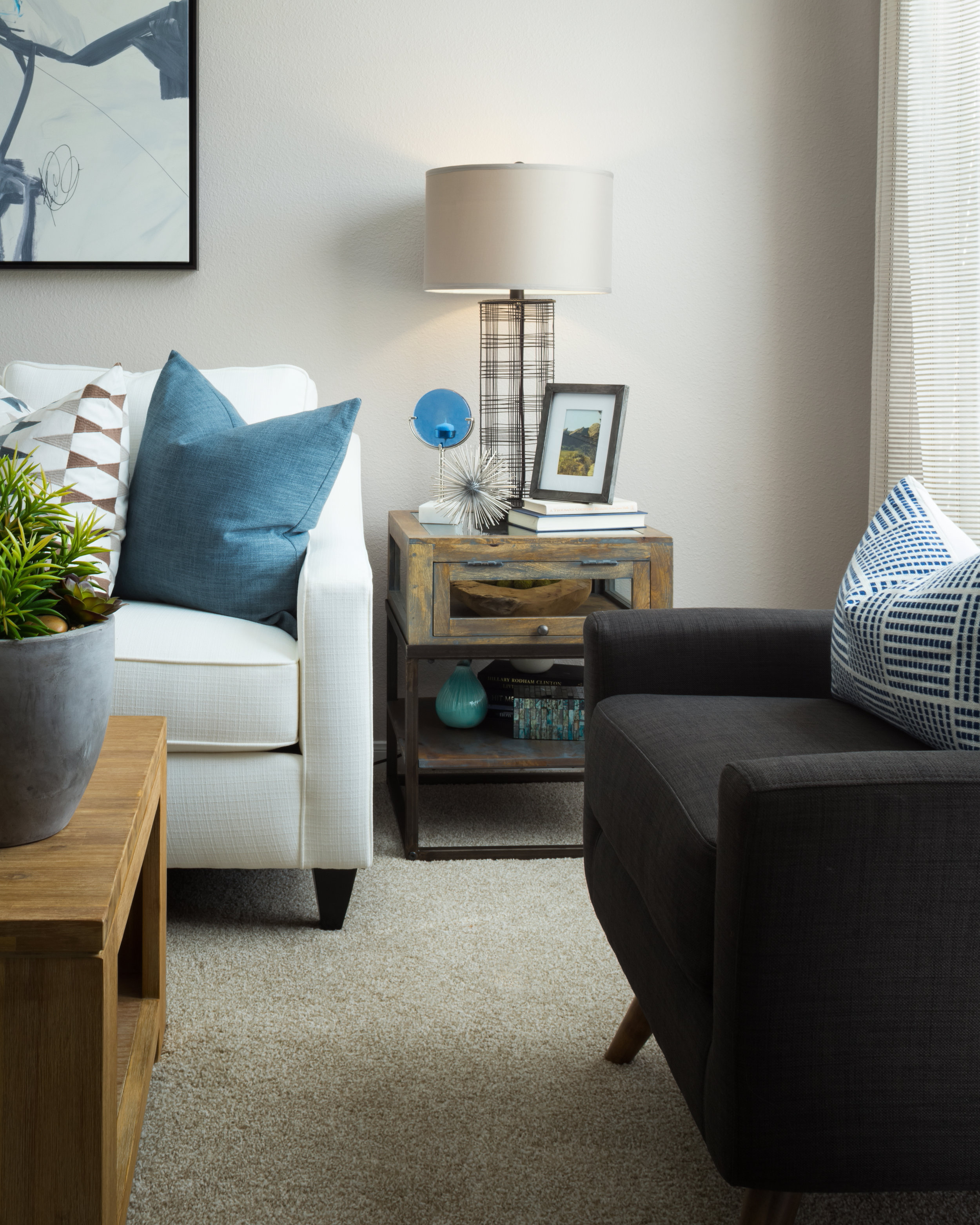 Morris Photography - Model Apartment Living Room
