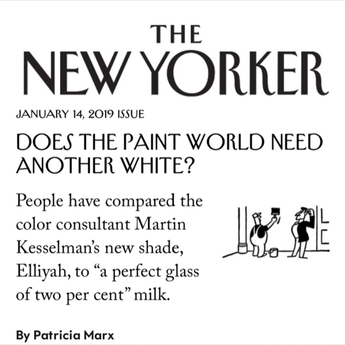 "PRESS INCOLOUR    Martin Kesselman & Elliyah    ""The Talk Of The Town""   THE NEW YORKER    Click through on image, link to read the article"