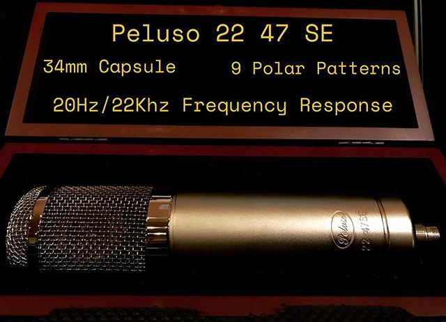 We are proud to introduce the Peluso 22 47 SE. John Peluso's famous U47 style microphone built to the highest quality specifications, right here in VA! It's in the studio, waiting to record your record 🐐 #peluso #2247se #recording #vocals