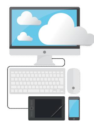 Cloud managed digital signage solutions.