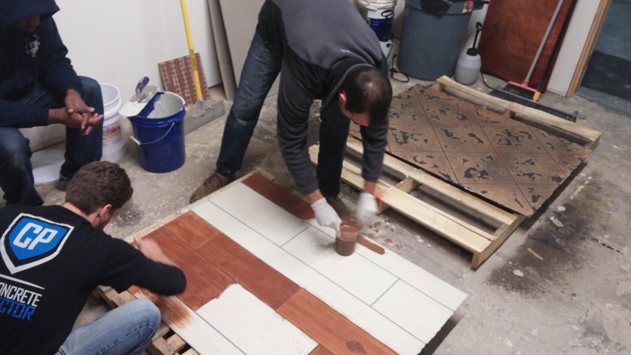 Concrete Wood Sample