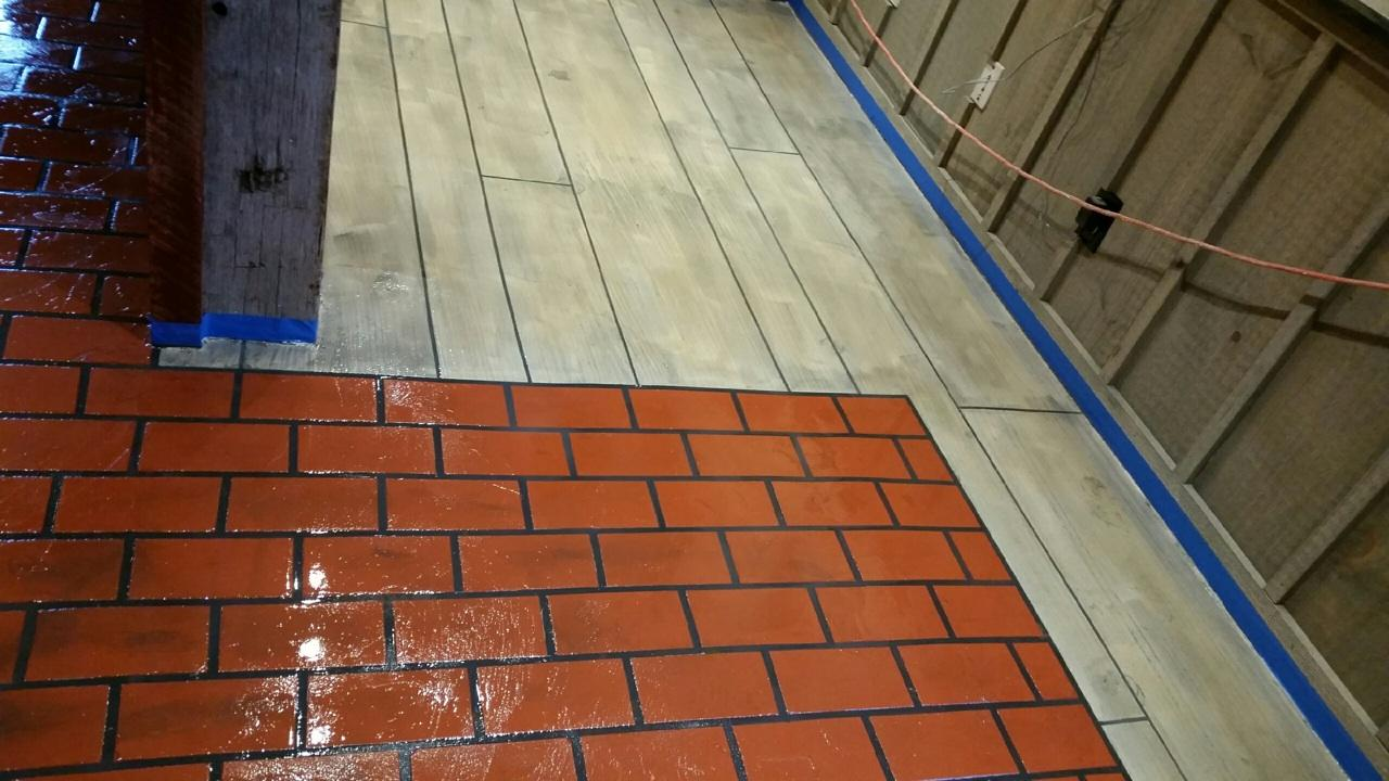 Brick and Weathered Concrete Wood - Downingtown, PA