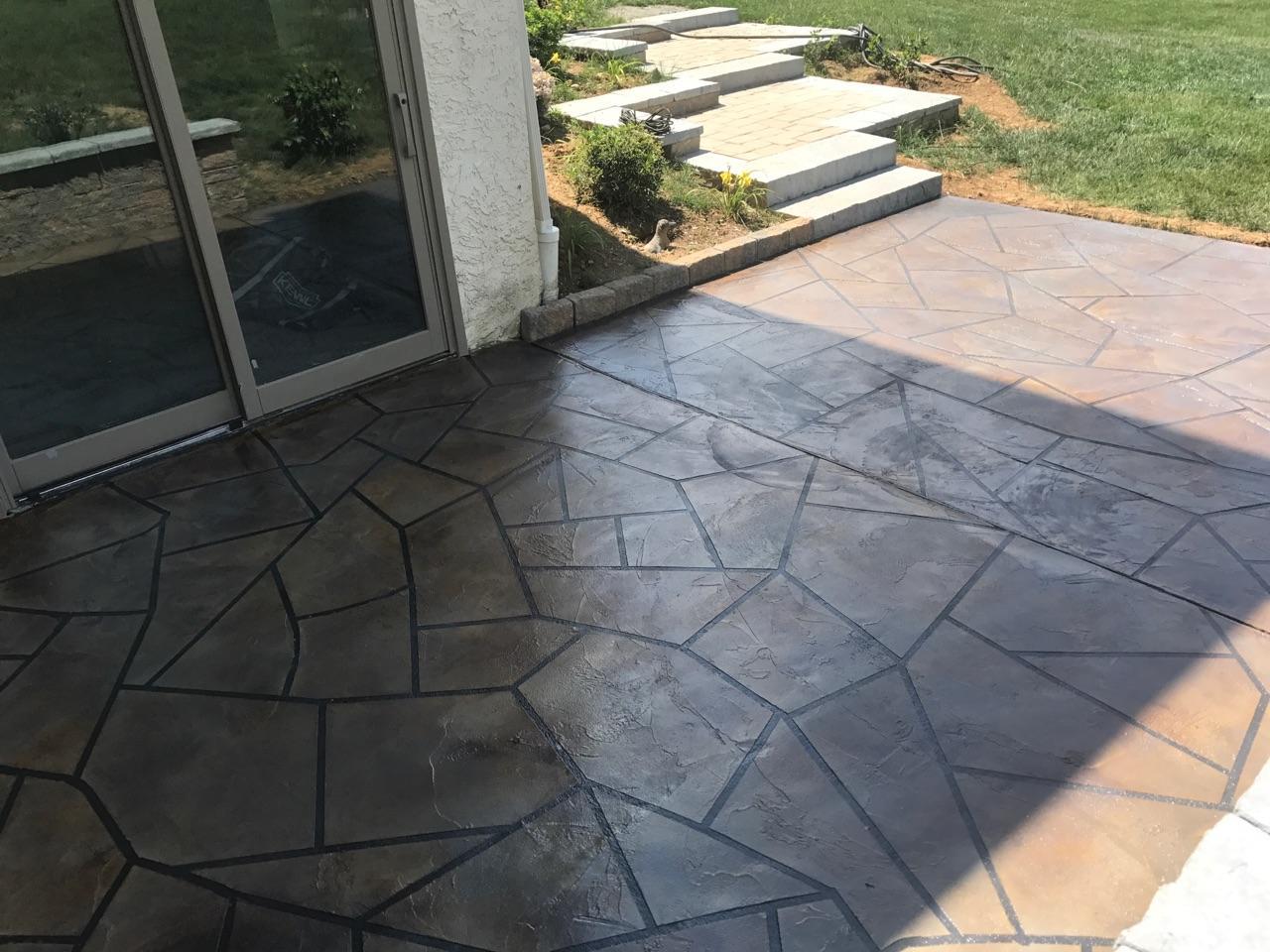 Concrete Patio Overlay - Phoenixville, PA