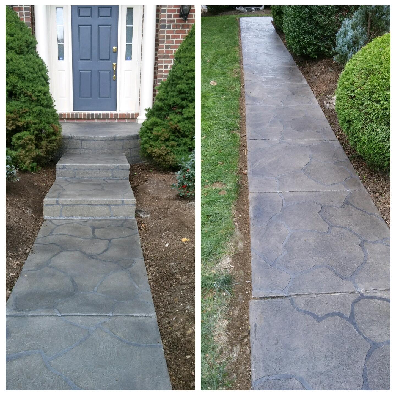 Flagstone Texture Walkway/Porch - Media, PA
