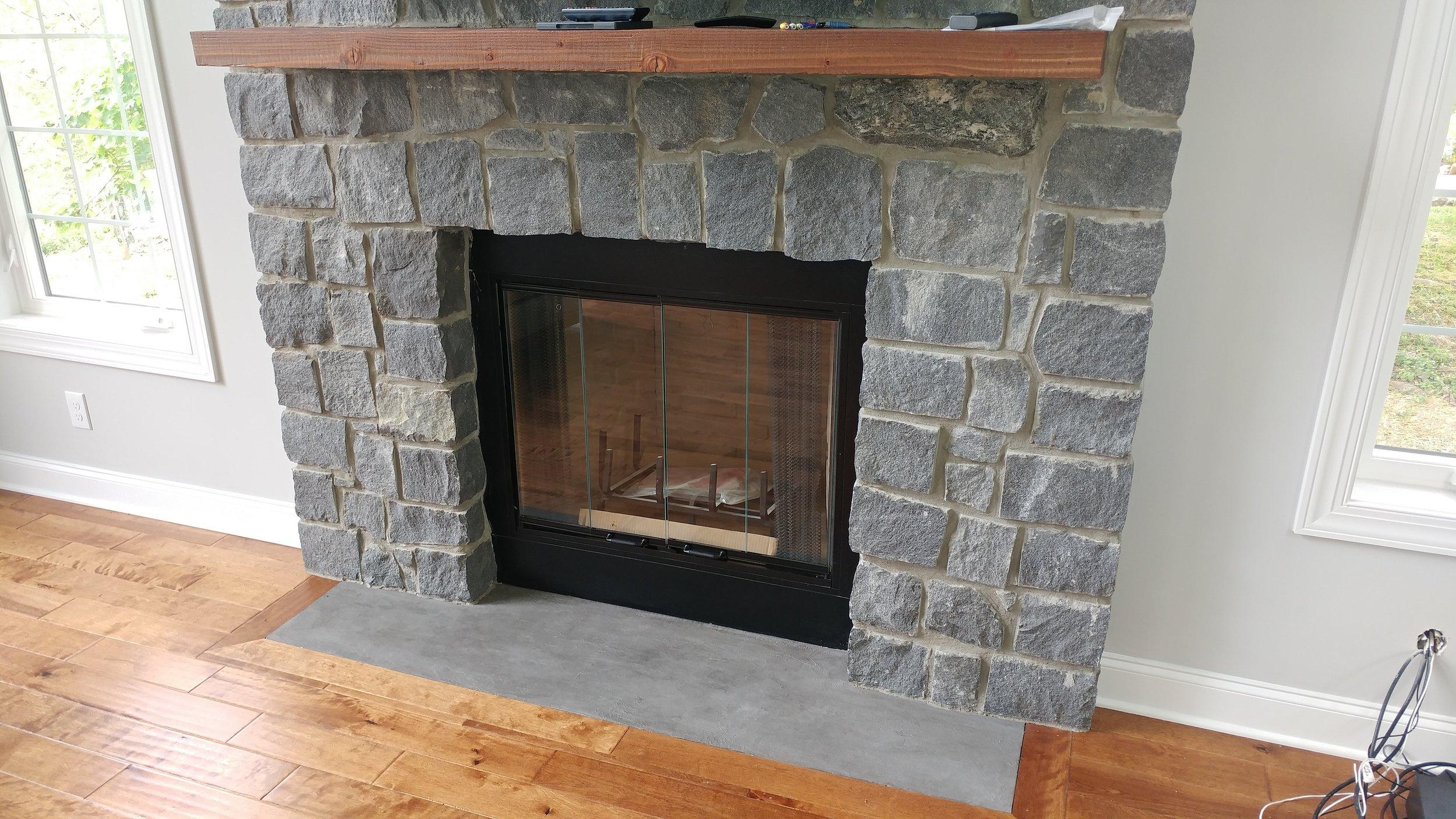Texture Fireplace Hearth - Gladwyn, PA