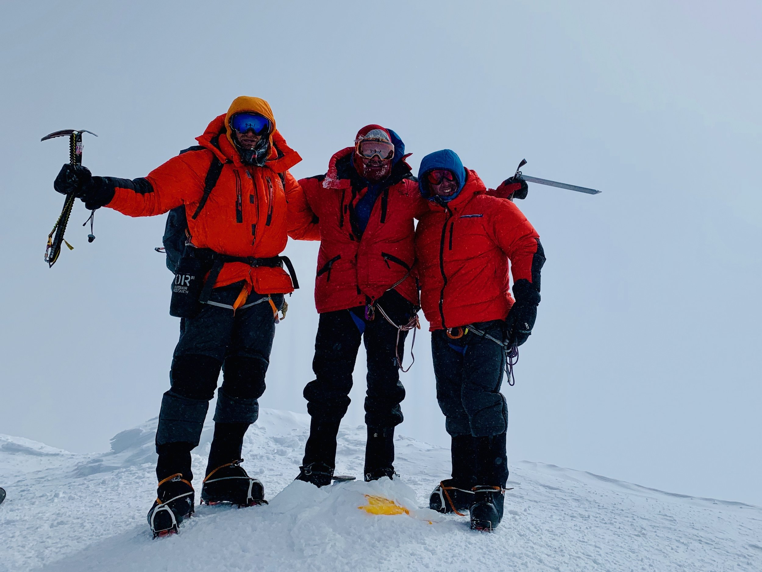Summit of Denali with emergency medicine physician friend and client