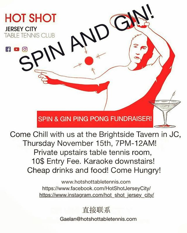Come out and support the club! #thebrightsidetavern , #jerseycityfun, #pingpongbar, #jerseycitydowntown