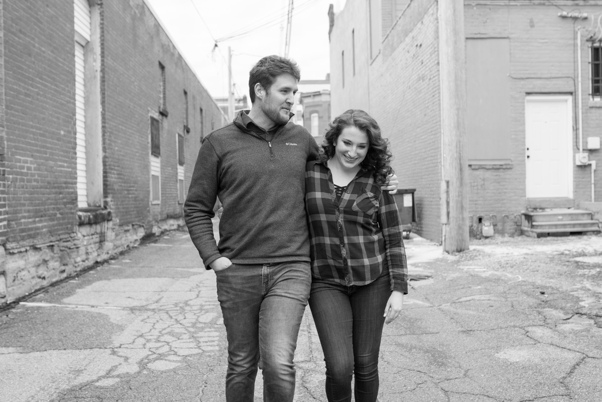 black-white-downtown-engagement
