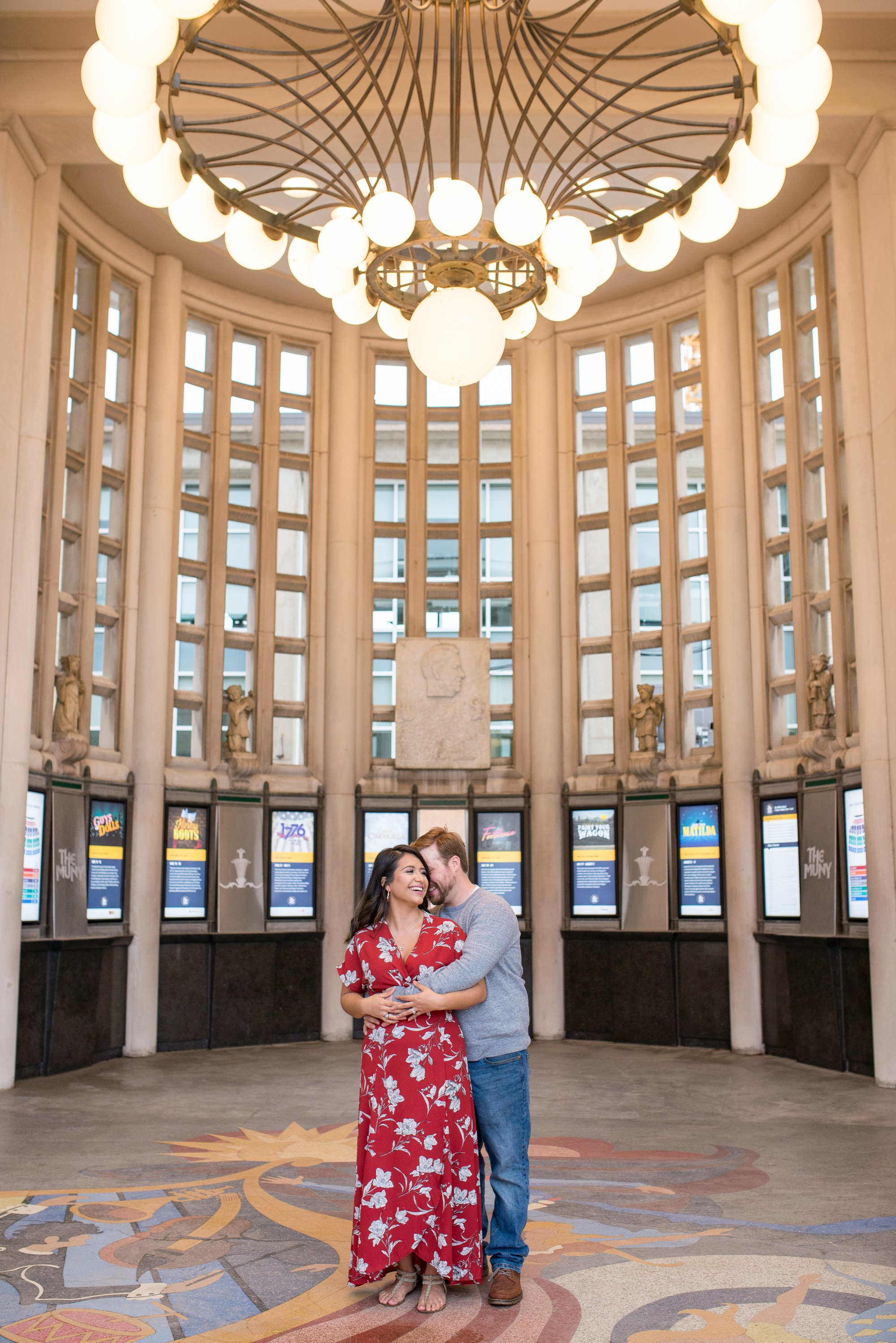 St Louis Theater Forest Park Engagement Session