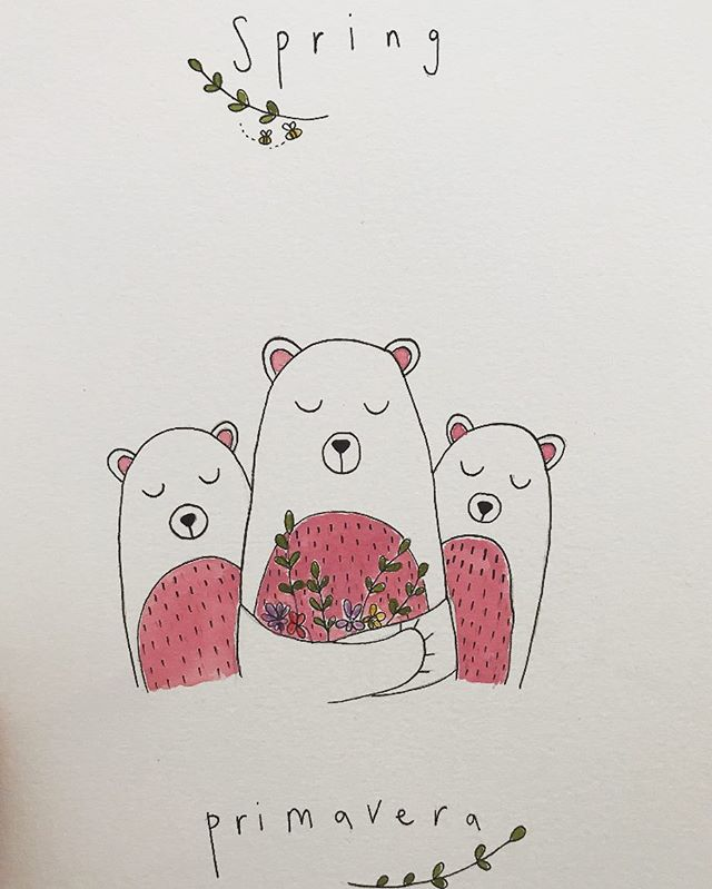 Orsetti di primavera 🐻💐 . . . . .  #seasons #animals #illustration #printmaking #smallbusiness #illustrator #draw #ink #flowers #floral #wild #ink #create #design #artwork #orsetti #italian #language #stationery #greatoutdoors #make #childrens #childrensbooks #nursery #baby #organic #stories #storyboard #instaart #bookstagram #littleinklondon