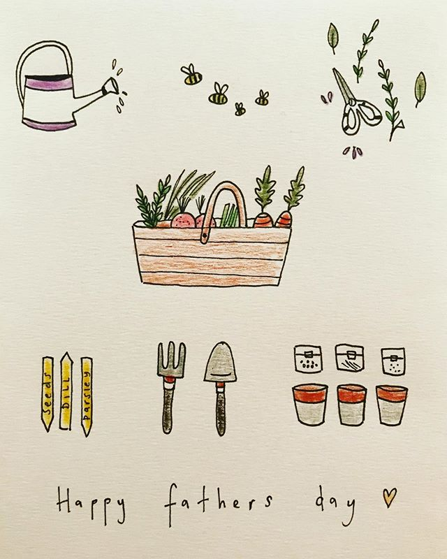 Happy papas day to all of the amazing fathers 💕 have a lovely day. . . . . . #fathersday #father #love #instaart #draw #bookstagram #cards #gardening #colour #organic #vegetables #green #healthy #print #design #small #littleinklondon #wild #ingredients #food #cards #design #local #smallbusiness #storyboard