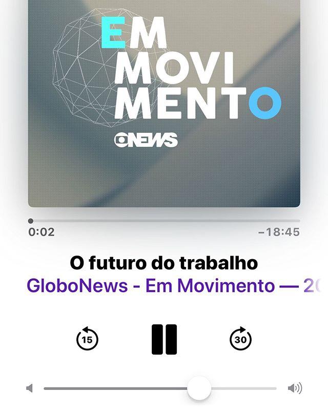 Recomendo fortemente esse Podcast da Globonews em Movimento a respeito do Futuro do Trabalho. A entrevistada é a Andrea Krug. Ela traz dados, informações e perspectivas bastante interessantes sobre o assunto. Vale conferir!