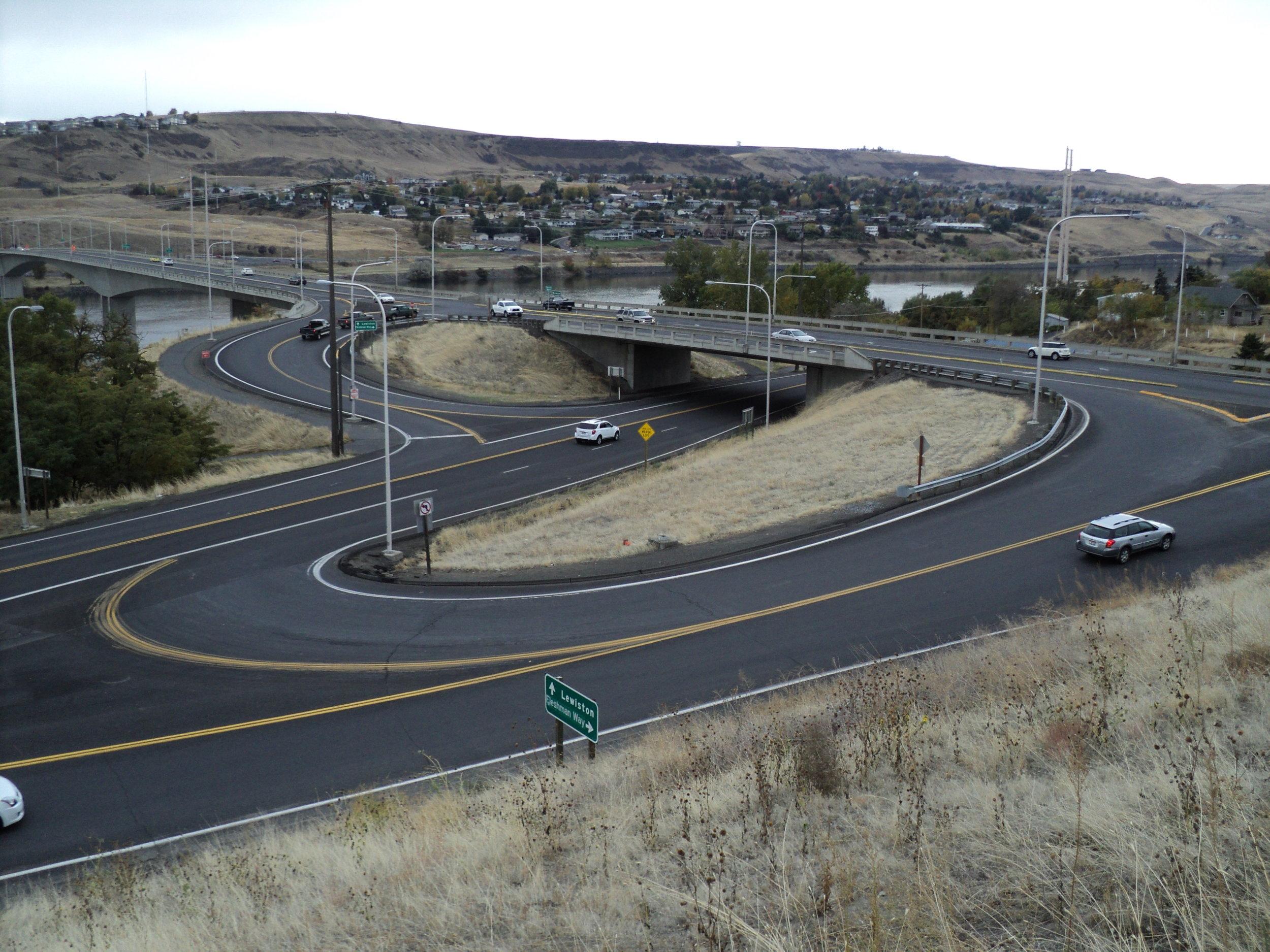 Fleshman Way interchange in Asotin County, Washington