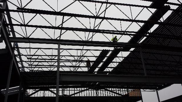 Richland Elementary structural steel decking