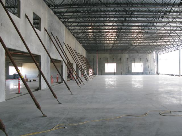 Floor flatness testing at Schweitzer Engineering Manufacturing Plant in Lewiston, Idaho