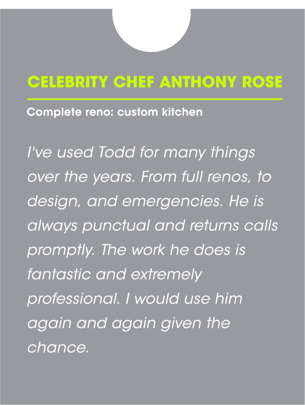 Celebrity Chef Anthony Rose Testimonial