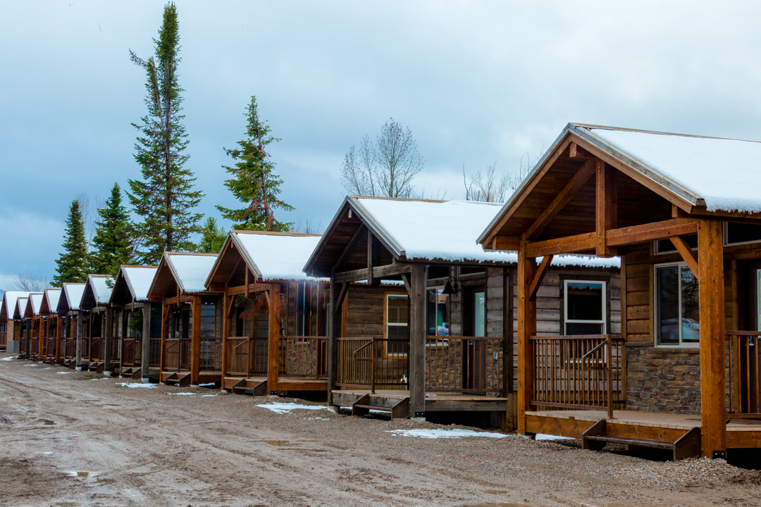 Lots of cabins to choose from a Teton Valley Resort which is also an RV park.