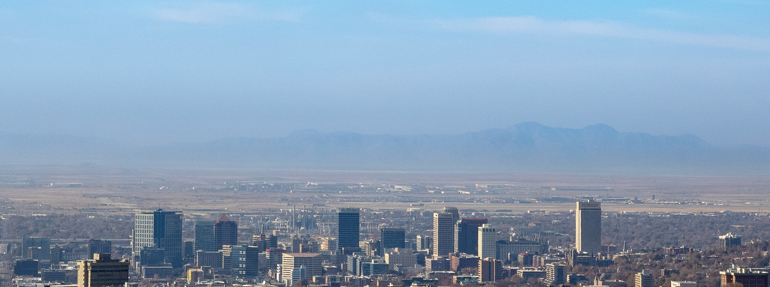 Salt Lake City Skyline from The Living Room Lookout Trail